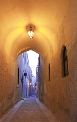 Narrow alley in Mdina, Malta