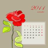 November, 2011 poster