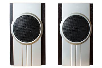 speaker insulated on white background