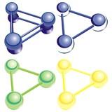 atom molecule chemistry physics poster