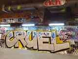 Graffiti on a underpass wall
