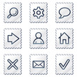 Basic web icons, white stamp series