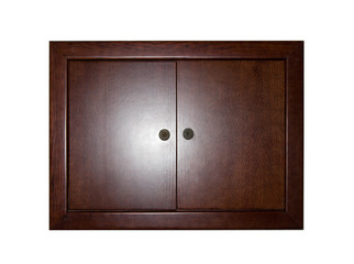 Closed wooden locker