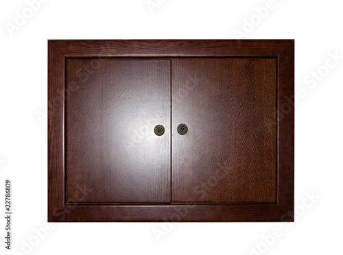 Closed wooden locker