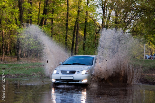 Car forces water