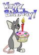 Geburtstag, Maus, Ratte, Kuchen, Muffin, Geburtstagsparty
