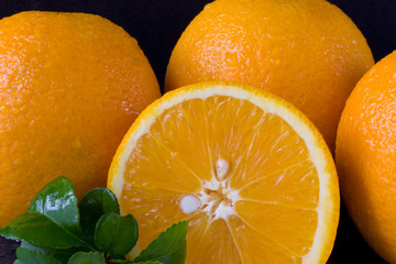 Oranges with Leaf
