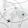 World airplane flight travel plans connections - 22792485