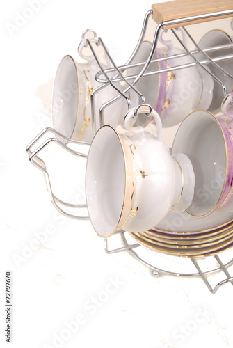 White porcelain set