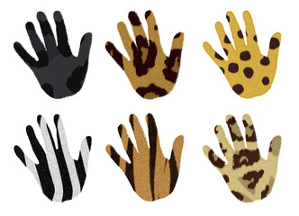 hands with animal fur