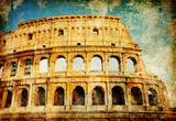 Colosseum - great Italian landmarks series poster