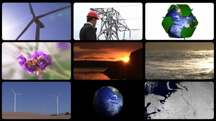 Montage showing footage concerning environmental business