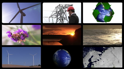 Animation presenting the concept of green technology
