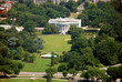 Aerial view of The White house in Washington DC