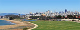 San Francisco and Crissy Field on a crystal clear day