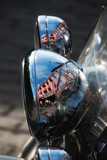 Motorbike Lamp Reflection, Oslo