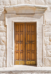 Wooden Portal of Giovinazzo Cathedral. Apulia.