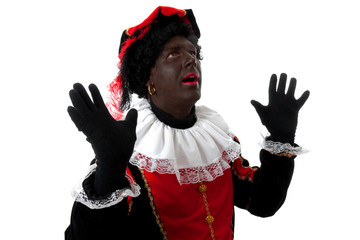 surprised Zwarte Piet ( black pete) typical dutch character