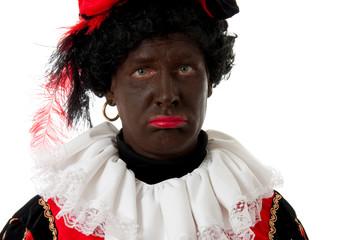 sad Zwarte Piet ( black pete) typical dutch character