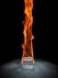 Eiswürfel /Flamme