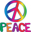 PEACE sign and text
