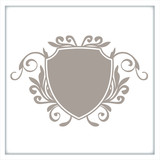 wappen logo schnörkel