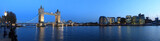Tower Bridge and the Thames panoramic view about London at night - 22814214