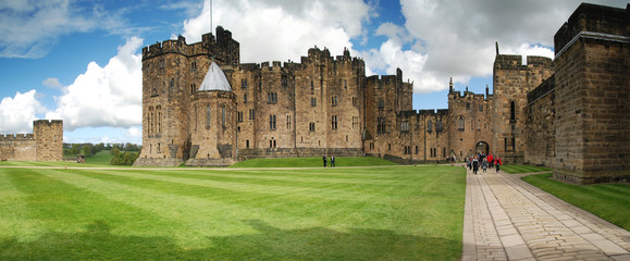 Alnwick Castle Panoramic View