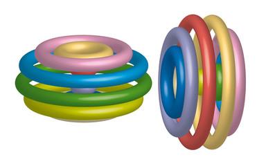 hula hoop colorati