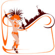 Danseuses de samba -arabesque