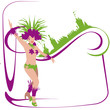 Danseuses de samba -beauté