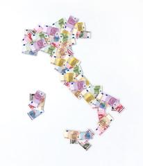 mappa italia banconote euro
