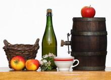 Sidra, jugo de manzana, Bretaña, Normandía, el barril