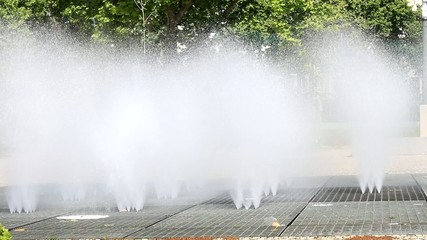 Rollerskating and Water Fountain