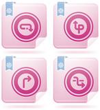 Miscellaneous Flamingo Icons poster