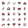red web internet icons - set 1