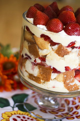 Strawberries and Cream Trifle