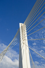 Abstract Detail of Millennium Bridge in Podgorica, Capital city