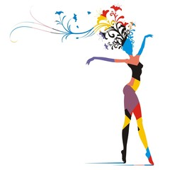 Carnival woman silhouette 01