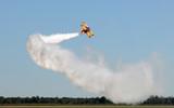 Airplane performing stunt poster