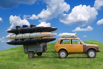 trailer with a catamaran