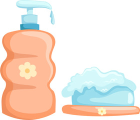 bath bottle and soap