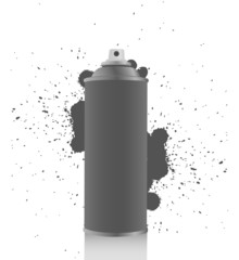 Gray spray tin