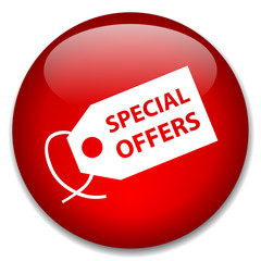 SPECIAL OFFERS web button (online deals shopping web)