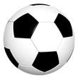 klassischer Fußball - schwarz-weiß