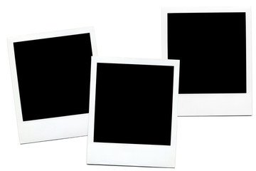 Empty Polaroid  photo blanks