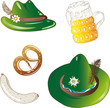 Oktoberfest, Hut, Bayern, Bier, Weisswurst, Brezel