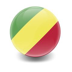 Esfera brillante con bandera Congo