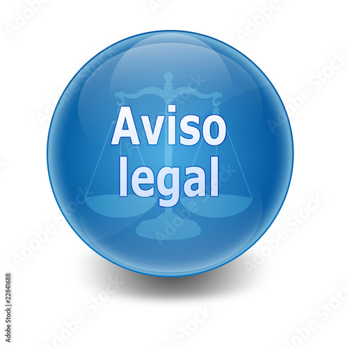 "Esfera brillante con texto ""AVISO LEGAL"""