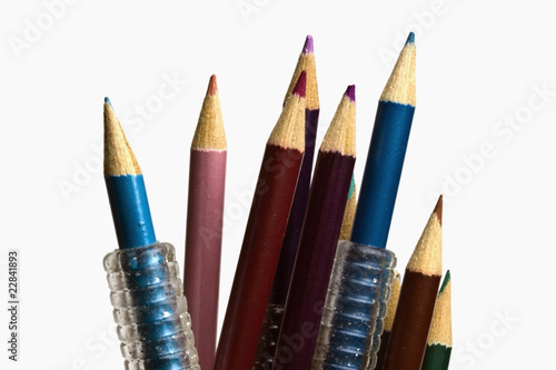 colorful pencils on focus